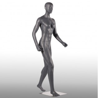 Etalagepop-Mannequin-Grijs