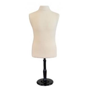 Halve Schaal Paspop / Buste Mannelijk Model Model